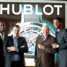 Hublot's own Rick Delacroix and Mr. Biver joining me and UD for the swag wrist pose.