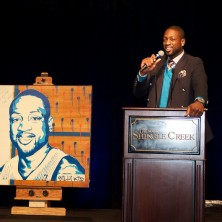 I'm really feeling this live auction item. The artist did a great job of capturing all of my angles. What do you think?