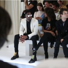 Front row at Balmain. Sneak peek at my look for next season. Photo: Emanuele D'Angelo for Bob Metelus Studios