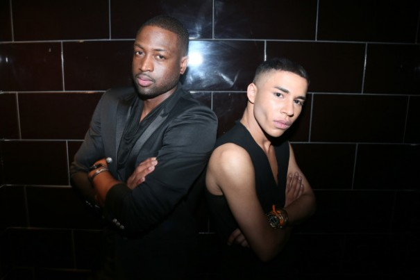 PARIS, FRANCE - JUNE 25: (L-R) Basket-ball player Dwyane Wade and Creative Director for Balmain Olivier Rousteing attend the Balmain Menswear Spring/Summer 2017 after party as part of Paris Fashion Week at Les Bains on June 25, 2016 in Paris, France. (Photo by Victor Boyko/Getty Images)