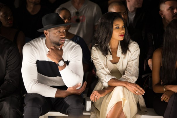 NEW YORK, NY - July 14: Dwyane Wade and Gabrielle Union are seen during New York Fashion Week Men's on July 14, 2015 in New York City. (Photo by Bobby Metelus/Getty Images)