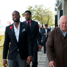 Heading in to the arena with Hublot's Chairman, Mr. Jean-Claude Biver and my teammate Udonis Haslem for the launch of the Special Edition Hublot Miami Heat Watch
