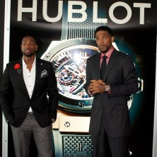 It was special to celebrate the launch of the Hublot Miami Heat watch with my teammate Udonis Haslem. We've played together for nine years and it was only fitting to be the ones to place our team's watch in the case together.