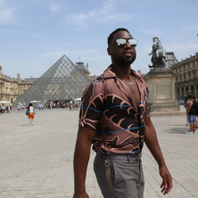 At Louis Vuitton, art inspires fashion. Photo: Emanuele D'Angelo for Bob Metelus Studios