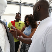 Creative director of Off-White Virgil Abloh explaining the concept behind his deconstructed Spring '18 line. Photo: Emanuele D'Angelo for Bob Metelus Studios