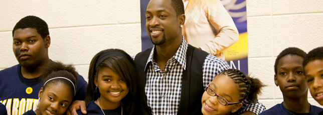 Bowling with Dwyane Wade at Marquette