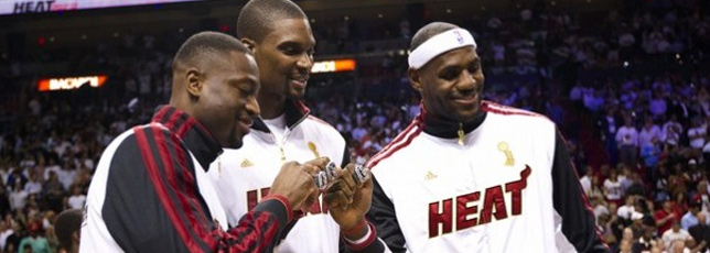 Heat get rings, then win over Celtics, 120-107
